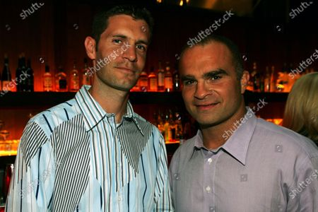 (L to R): Ted Dobrzynski (CDN) F1Play.com with Tie Domi, Toronto Maple Leafs Ice hockey player, at the Jordan Cocktail party. Formula One World Championship, Rd 8, Canadian Grand Prix, Practice Day, Montreal, Canada, 10 June 2005. DIGITAL IMAGE