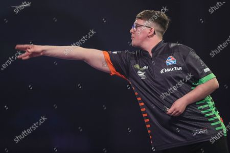 Keane Barry during the William Hill World Darts Championship at Alexandra Palace, London