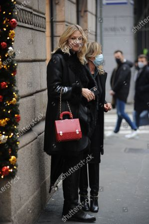 Editorial picture of Natasha Stefanenko out and about, Milan, Italy - 15 Dec 2020
