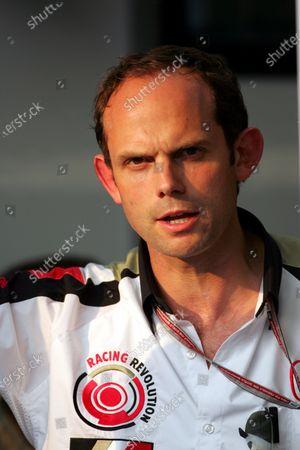 Alistair Watkins (GBR) BAR Marketing Director. Formula One World Championship, Rd15, Italian Grand Prix, Practice Day, Monza, Italy, 2 September 2005. DIGITAL IMAGE