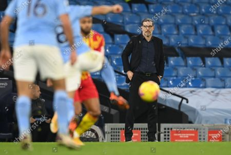 West Bromwich's manager Slaven Bilic reacts during the English Premier League match between Manchester City and West Bromwich Albion FC in Manchester, Britain, 15 December 2020.