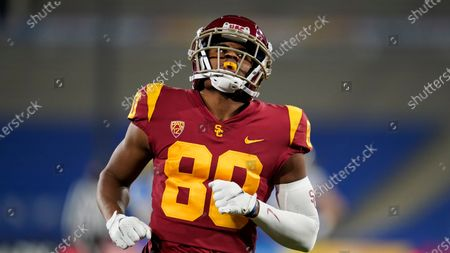 Southern California wide receiver John Jackson III (80) runs on the field during the second half of an NCAA football game against UCLA, in Pasadena, Calif