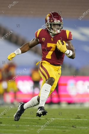 Southern California running back Stephen Carr (7) runs the ball during an NCAA football game against UCLA, in Pasadena, Calif