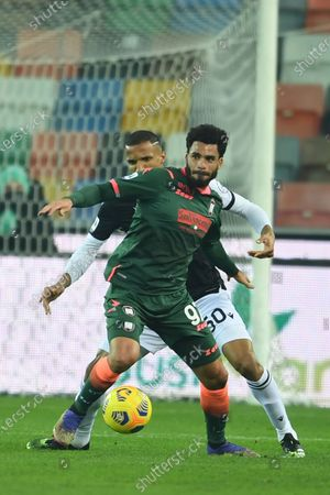 """Emmanuel Riviere (Crotone)Rodrigo Becao (Udinese)           during the Italian """"Serie A"""" match between Udinese 0-0 Crotone  at  Dacia Stadium in Udine, Italy."""