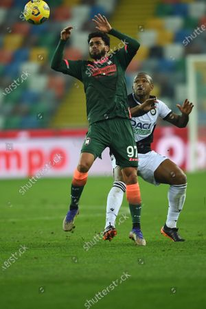 "Emmanuel Riviere (Crotone)Samir Caetano de Souza Santos (Udinese)           during the Italian ""Serie A"" match between Udinese 0-0 Crotone  at  Dacia Stadium in Udine, Italy."