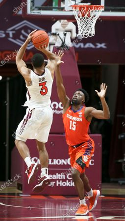 Editorial photo of Clemson Virginia Tech basketball, Blacksburg - 15 Dec 2020