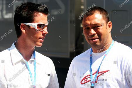 Sonny Garcia (USA) Surfer (Right). Formula One World Championship, Rd 8, British Grand Prix, Qualifying Day, Silverstone, England, 10 June 2006. DIGITAL IMAGE
