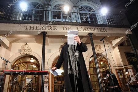 Editorial picture of Jacques Weber and Francois Morel demonstration for culture and the re-opening of theatres, Paris, France - 15 Dec 2020