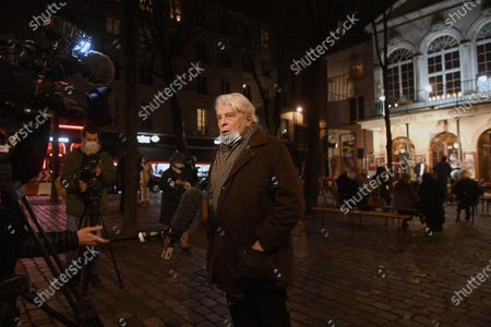 Editorial image of Jacques Weber and Francois Morel demonstration for culture and the re-opening of theatres, Paris, France - 15 Dec 2020