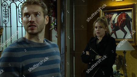 Emmerdale - Ep 8932 Friday 1st January 2021 Millie goes missing under Dawn Taylor, as played by Olivia Bromley, and Jamie Tate's, as played by Alexander Lincoln, supervision.