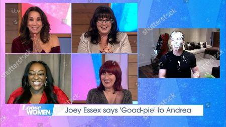 Stock Image of Andrea McLean, Coleen Nolan, Judi Love, Janet Street-Porter and Joey Essex