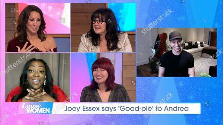 Stock Picture of Andrea McLean, Coleen Nolan, Judi Love, Janet Street-Porter and Joey Essex