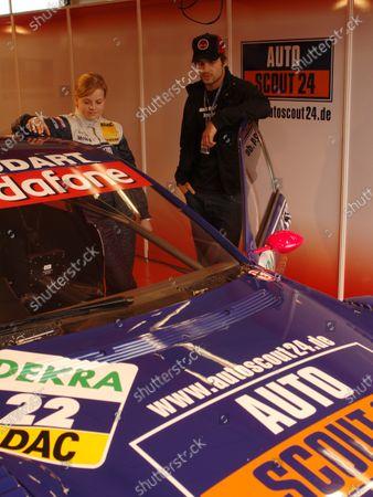 Round 3 Motorsport Arena Oschersleben, 19.-21- May 2006 Race Susie Stoddart (GBR) AutoScout24 AMG Mercedes C-Klasse 04 meets Popstar Patrick Nuo DTM, Rd3, Oschersleben, Germany, 19-21 May 2006. DIGITAL IMAGE