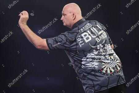 James Bailey during the William Hill World Darts Championship at Alexandra Palace, London