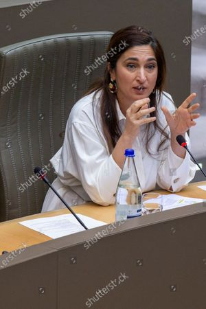 Flemish Minister of Environment, Energy, Tourism and Justice Zuhal Demir pictured during a plenary session of the Flemish Parliament in Brussels, Wednesday 16 December 2020.