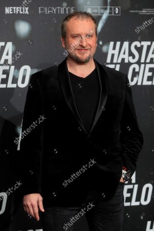 Stock Photo of Fernando Cayo poses for the photographers during the presentation of the film 'Hasta el Cielo' (Up to Heaven), directed by Daniel Calparsoro, at a hotel in Madrid, Spain, 16 December 2020. The film opens in Spanish cinemas on 18 December.