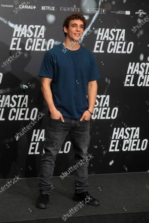 Spanish actor and cast member Miguel Herran poses for the photographers during the presentation of the film 'Hasta el Cielo' (Up to Heaven), directed by Daniel Calparsoro, at a hotel in Madrid, Spain, 16 December 2020. The film opens in Spanish cinemas on 18 December.