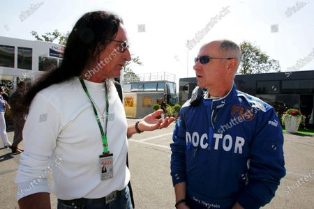 (L to R): Ken Hensley (GBR) former band member of Uriah Heep talks with Gary Hartstein (USA) FIA Doctor Formula One World Championship, Rd 13, Italian Grand Prix, Race, Monza, Italy, Sunday 9 September 2007.