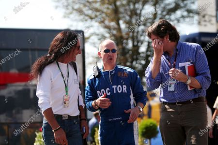 (L to R): Ken Hensley, Autobild Motorsport, Gary Hartstein (USA) FIA Doctor and Leopold Wieland (GER) Managing Editor of Auto Bild Motorsport Magazine. Formula One World Championship, Rd 13, Italian Grand Prix, Race, Monza, Italy, Sunday 9 September 2007.