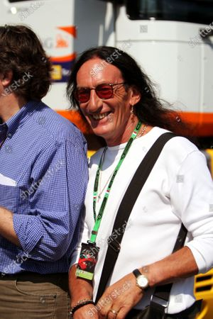 Ken Hensley (GBR) former band member of Uriah Heep Formula One World Championship, Rd 13, Italian Grand Prix, Race, Monza, Italy, Sunday 9 September 2007.