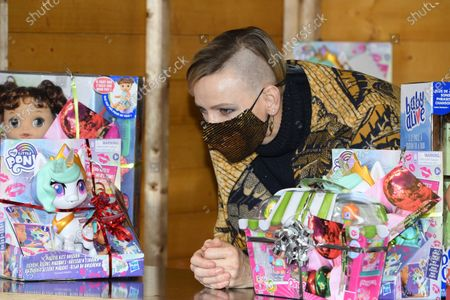 Stock Picture of Princess Charlene of Monaco attends the Christmas gift distribution