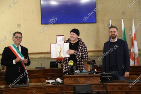 Editorial photo of Vasco Rossi receives the Golden Neptune award, Bologna, Italy - 16 Dec 2020