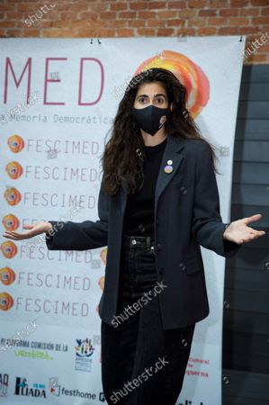 Alba Flores poses during a photocall prior to a colloquium organized by IV International Democratic Memory Film Festival held in Cineteca, Madrid, Spain, 16 December 2020.
