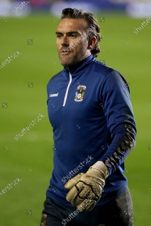 Stock Picture of PORTRAIT  Coventry City's Lee Camp during the EFL Sky Bet Championship match between Coventry City and Huddersfield Town at the Trillion Trophy Stadium, Birmingham