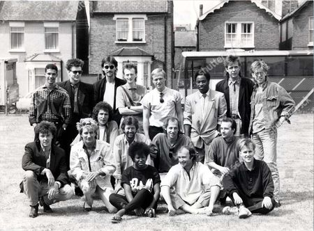 From Top Left To Right: Mike Lindup - Stuart Adamson - Boon Gould - Bruce Watson - Mark King - Tony Butler - Mark Brzezicki - Phil Gould - Paul Young - Rod Stewart - John Illsley - Eric Clapton - Mark Knopfler - Midge Ure - Joan Armatrading - Phil Collins - Howard Jones.... Picture Desk ** Pkt5008-366974