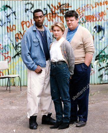 Television Programme 'alive And Kicking' 1991 Lenny Henry And Robbie Coltrane Star In A Feature Length Film About Violence And Drug-cultures. Included In Picture Is Imogen Boorman. Picture Desk ** Pkt6090-448038