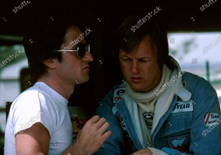 Patrick Depailler(L) and Ronnie Peterson, South African GP Kyalami 1977He drove for Tyrrell, Ligier and Alfa RomeoHe was killed in testing at Hockenheim 1 Aug 1980