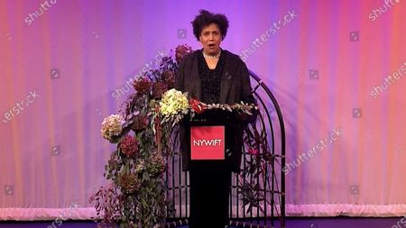 Stock Picture of The host of the 2020 NYWIFT Muse Award show Nancy Giles