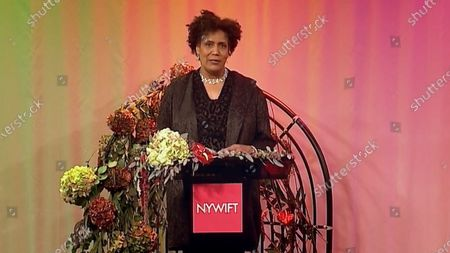 Stock Photo of The host of the 2020 NYWIFT Muse Award show Nancy Giles
