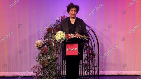 Stock Image of The host of the 2020 NYWIFT Muse Award show Nancy Giles