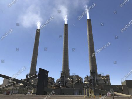 Editorial photo of Navajo-Power Plant Stacks, Page, United States - 21 Aug 2019