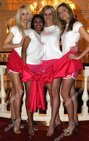Cast Members Of Dirty Dancing; Helene Harper Tanya Perera Nadia Coote And Isabella Calthorpe Launch The Valentine's Day Charity Gala Performance In Aid Of Breast Cancer