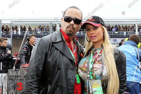 Stock Image of Ice T (USA) Rapper with his wife Nicole 'CoCo Marie' Austin (USA) Model. Formula One World Championship, Rd 7, Canadian Grand Prix, Race, Montreal, Canada, Sunday 12 June 2011. BEST IMAGE