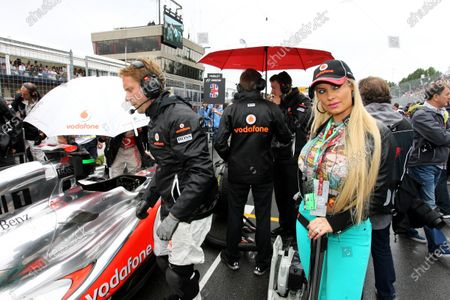 Stock Picture of Nicole 'CoCo Marie' Austin (USA) Model and wife of rapper Ice T. Formula One World Championship, Rd 7, Canadian Grand Prix, Race, Montreal, Canada, Sunday 12 June 2011.