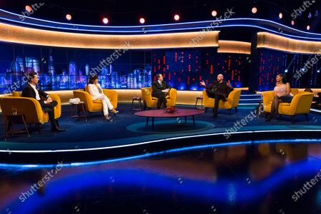 Stock Picture of Russell Kane, Dame Joan Collins, Jonathan Ross, Tyson Fury and Maya Jama