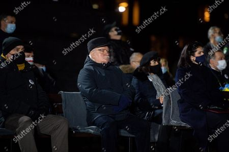 Stock Photo of Former President of Poland Lech Walesa seen during the anniversary of December 1970 in Gdansk. On December 14-22, 1970, there were riots and strikes due to the rise in retail food prices by the authorities. During these events 40 people were killed and more than 1,100 were injured. The largest workers strikes took place in Gdansk, Gdynia, Szczecin and Elblag. They were suppressed by the army and the militia.
