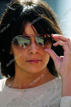 Stock Photo of Raquel del Rosario (ESP) wife of Fernando Alonso (ESP) Ferrari. Formula One World Championship, Rd 11, Hungarian Grand Prix, Qualifying Day, Budapest, Hungary, Saturday 30 July 2011.  BEST IMAGE