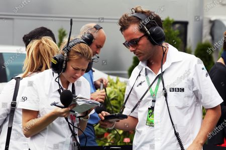 Jennie Gow (GBR) BBC 5 Live Pit Lane Reporter and Fanvision. Formula One World Championship, Rd 11, Hungarian Grand Prix, Qualifying Day, Budapest, Hungary, Saturday 30 July 2011.