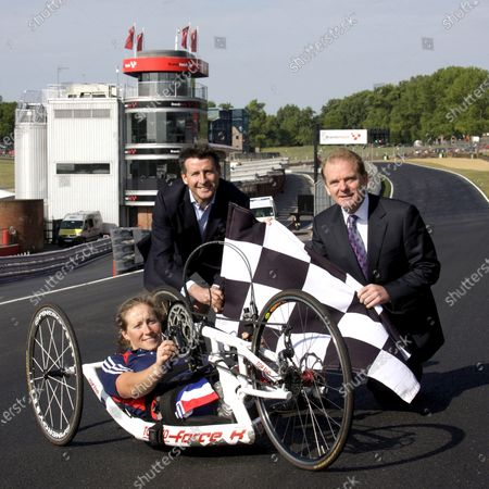 Lord Sebastian Coe (GBR) and Jonathan Palmer (GBR) MotorSportVision and with Olympic Gold Medalist gold medalist Rachel Morris (GBR) announce Brands Hatch as a Paralympics venue for cycling. Brands Hatch announced as Paralympics Venue, Brands Hatch, 20 May 2011.