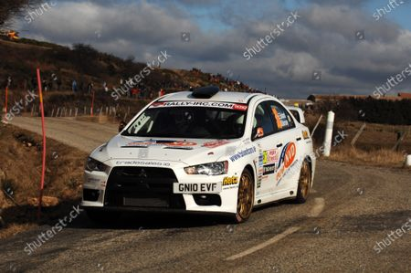 Stock Picture of Eamon Boland (IRE), Mitsubishi EVO X, on stage 1. Intercontinental Rally Challenge, Rd1, Monte-Carlo Rally, Monaco, Day One, Wednesday 19 January 2011.