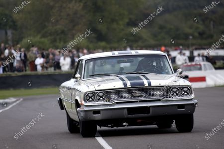 Stock Image of Paul Radisich (NZL) Ford Galaxie 500. Goodwood Revival, Goodwood, West Sussex, England, 16-18 September 2011.