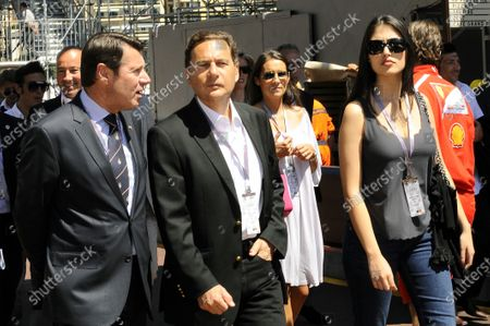 Eric Besson (FRA) French Minister of Industry, centre, with his wife. Formula One World Championship, Rd 6,  Monaco Grand Prix, Qualifying Day, Monte-Carlo, Monaco, Saturday 28 May 2011.