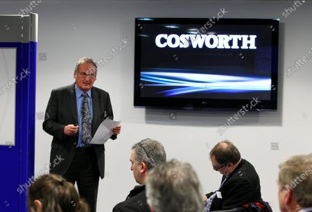 Richard Noble (GBR), Bloodhound Project Director, at the press conference. Bloodhound to test fire Britain's biggest hybrid rocket, Cosworth, Northampton, England, 3 March 2011.