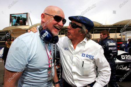 Sir Tom Hunter (GBR) Founding partner of West Coast Capital with Sir Jackie Stewart (GBR). Formula One World Championship, Rd 3, Bahrain Grand Prix, Race, Bahrain International Circuit, Bahrain, Sunday 6 April 2008.