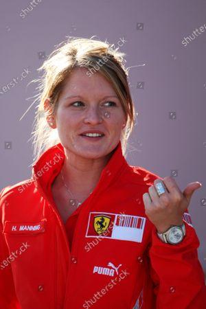 Stock Photo of Holly Manning (GBR) Ferrari Hospitality. Formula One World Championship, Rd 5, Turkish Grand Prix, Preparations, Istanbul Park, Turkey, Thursday 8 May 2008.
