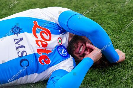 injury of Dries Mertens of SSC Napoli